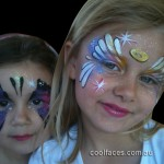cool faces face painting angel face (2)