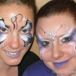 cool faces face painting butterfly and princess