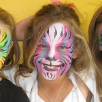 cool faces face painting rainbow tiger