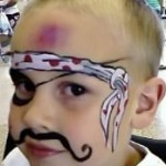 cool faces face painting pirate parties
