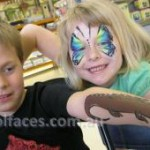 face painting butterflies gympie birthday parties