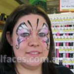 face painter gympie butterfly