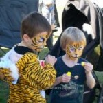 face painting tigers for boys birthday parties